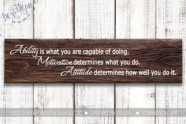 Ability Motivation Attitude SVG
