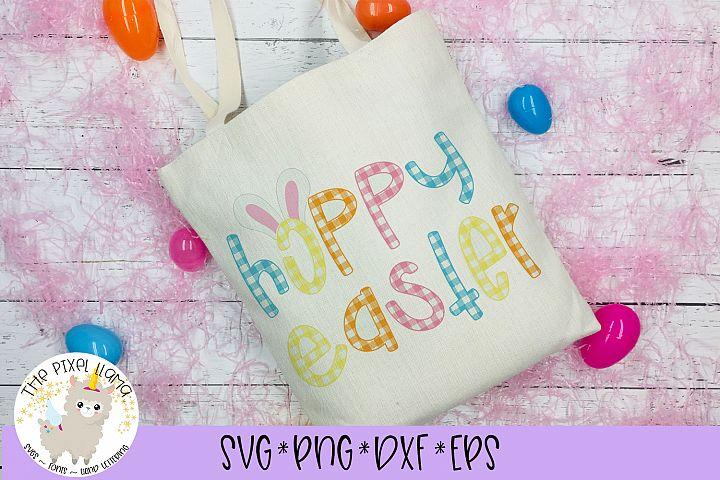 Hoppy Easter Plaid SVG Cut File