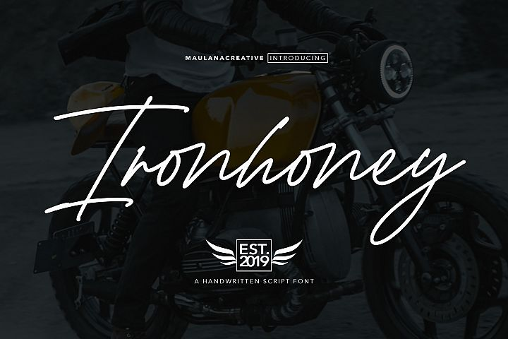Ironhoney Signature Font
