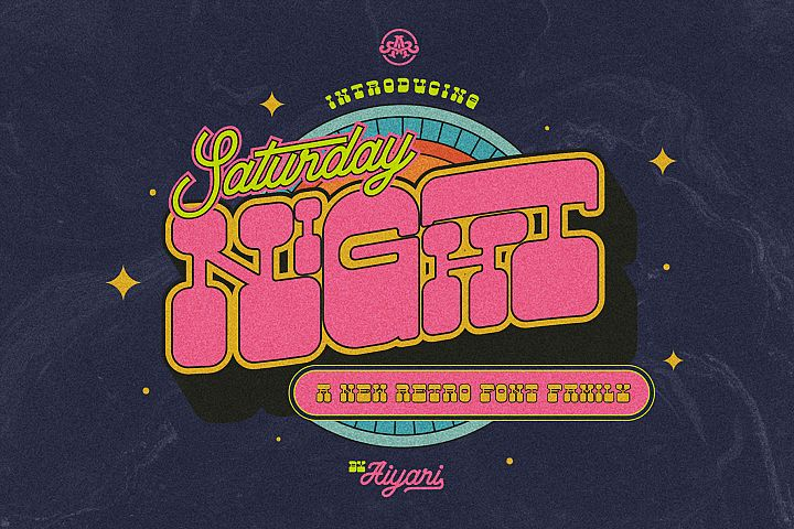 Saturday Night Font Family