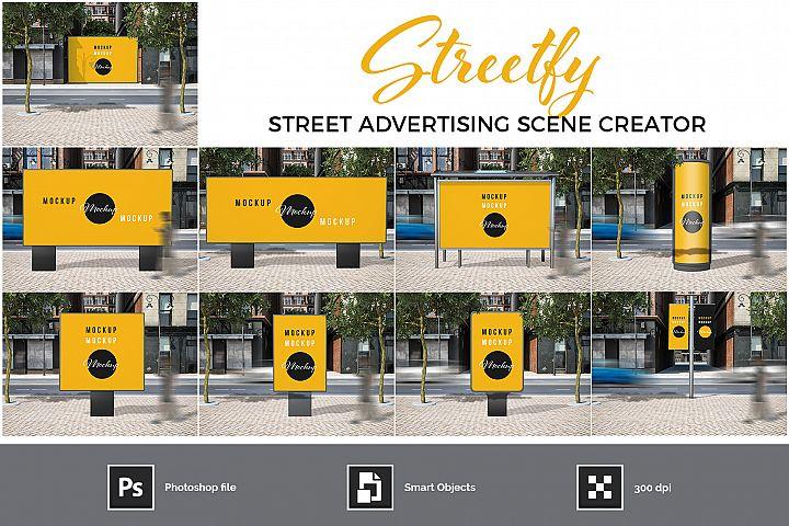 Street Advertising Scene Creator
