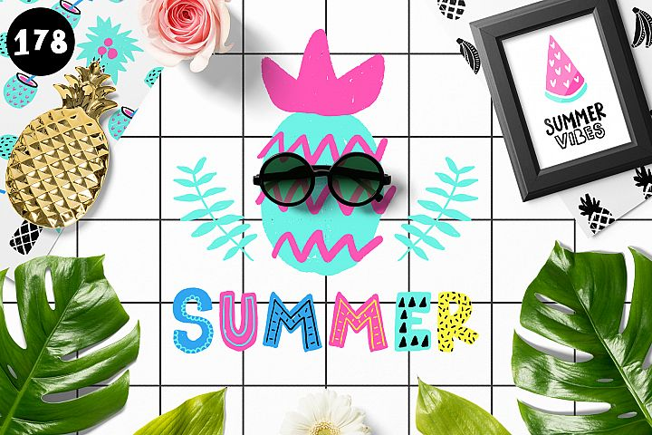 Modern Summer - Clipart Collection