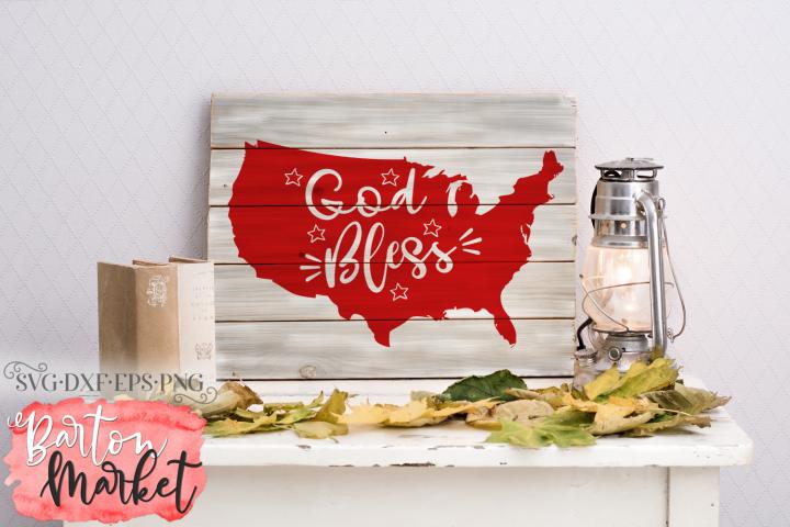 God Bless America SVG DXF EPS PNG