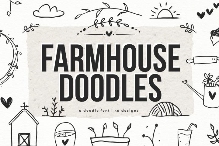 Farmhouse Doodles - Dingbat Font