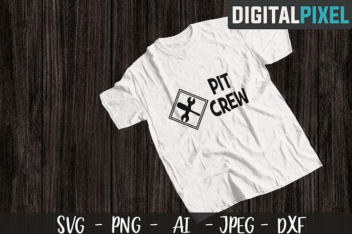 Pit Crew SVG PNG JPEG DXF Cricut Cut Silhouette, Racing Svg