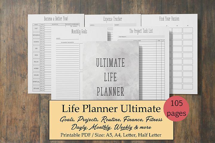 Life Planner, Goal Planner, Printable Planner