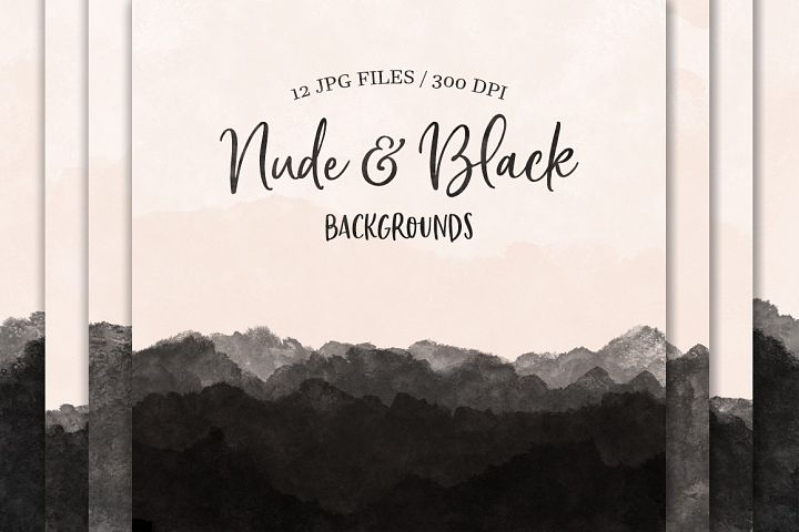 Nude & Black Backgrounds