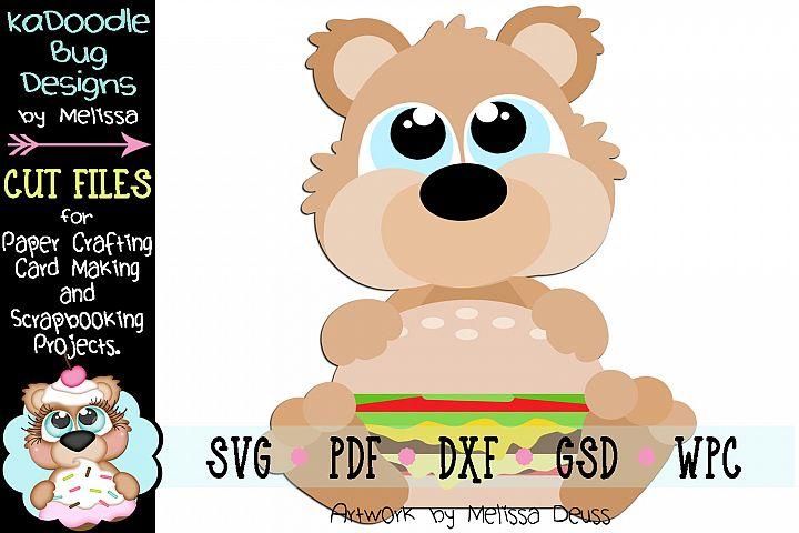 Hamburger Bear Cut File - SVG PDF DXF GSD WPC