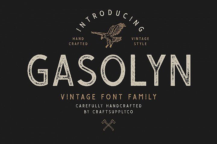 Gasolyn Font Family Bonus Extras