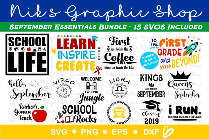 September Svg, School Svg, Teacher Svg, Back to School Svg