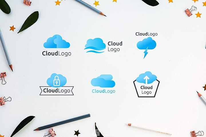 Cloud Shape Logos Templates