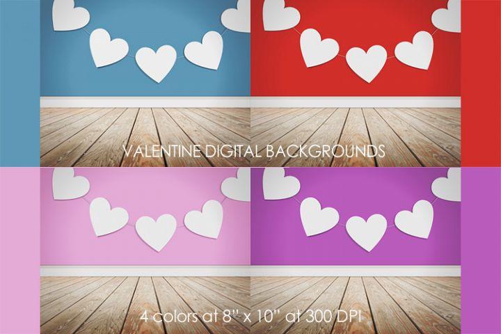 Valentine Studio Digital Backdrop Background Photo