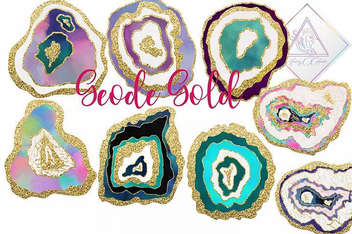Geode Gold Clipart