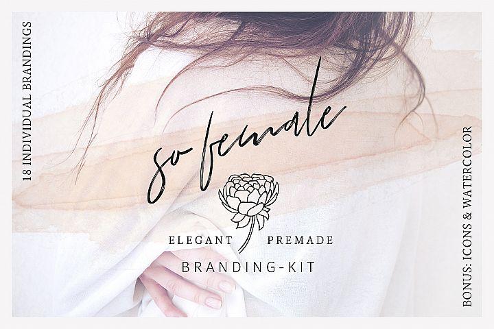 So Female Branding Kit + Watercolours