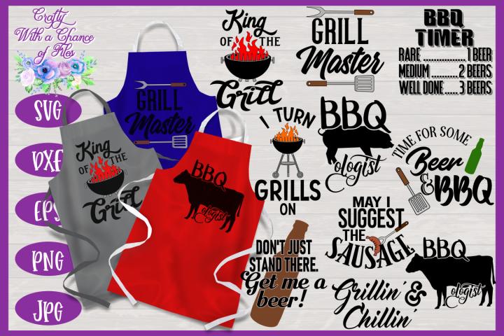 BBQ Grill Apron Bundle | Funny SVG Bundle