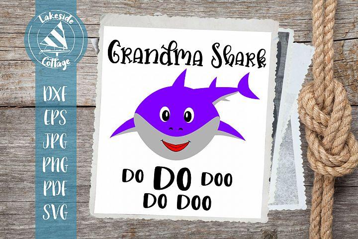 Grandma Shark do do doo - grandmother shark doo svg dxf eps