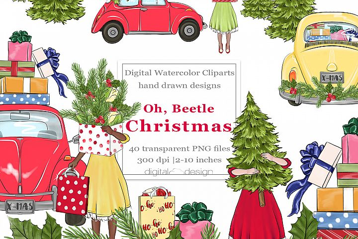 Oh, Beetle Christmas - Clipart
