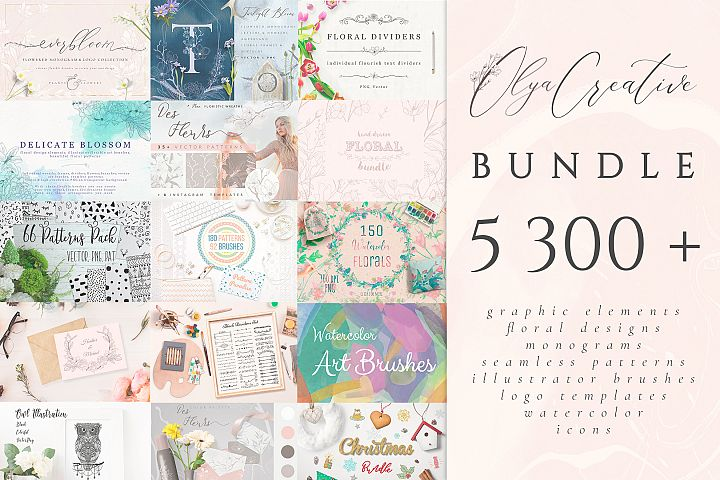 5300 in 1 Olya.Creative Bundle