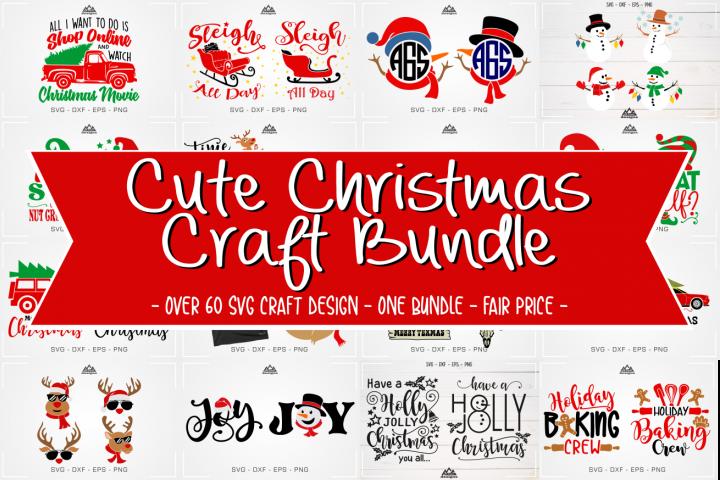 Cute Christmas Craft Bundle Svg Design