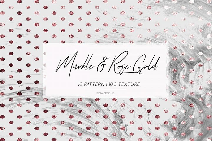 Wedding Invitation Papers,Marble Rose Gold Background