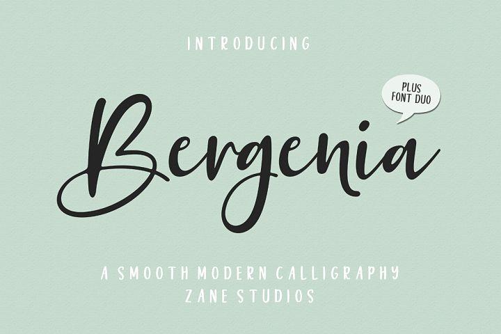 Bergenia Script FONT DUO