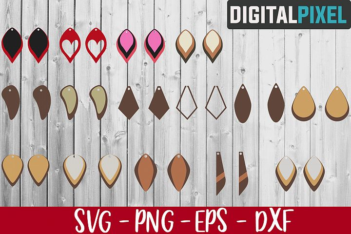 Earrings Bundle SVG PNG EPS, Earrings SVG, Earrings Template