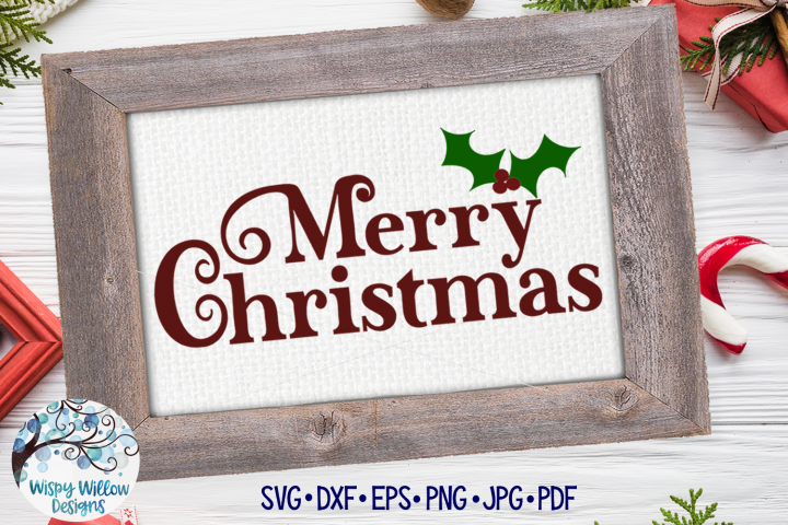 Merry Christmas SVG | Christmas SVG Cut File