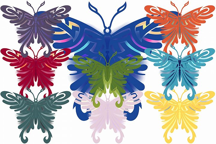 Colored Butterflys ( Graphic Pack )