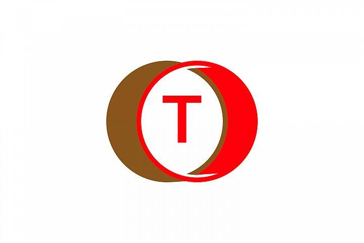 t letter circle logo