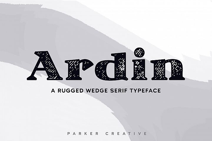 Ardin | Distressed Wedge Serif