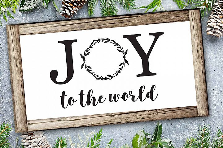 Joy to the world svg file, graphic files, Christmas svg