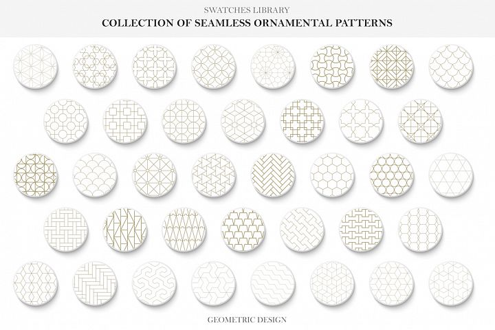 Vector seamless ornamental patterns