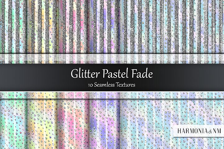 Glitter Pastel Fade 10 Seamless Textures