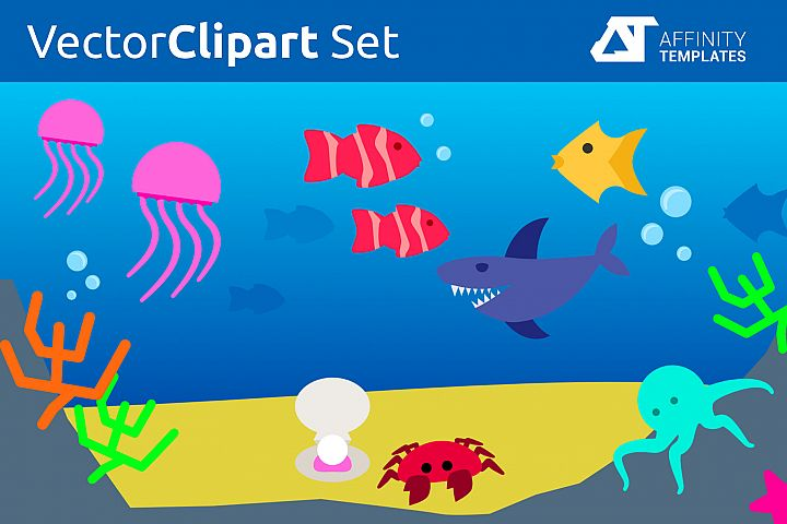 Ocean - Under the sea vector Cliparts