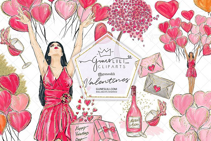 Cute Valentine Clipart Valentines Day Clipart Scrapbooking