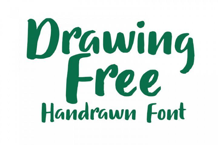 Drawing Free Modern Handrawn Font
