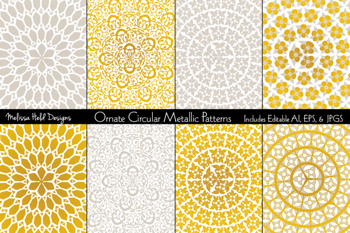 Ornate Circular Metallic Patterns