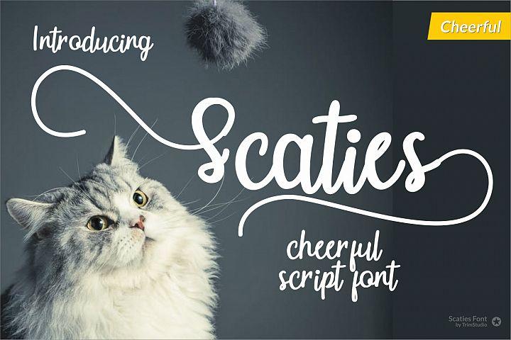 Scaties - Cheerful Font