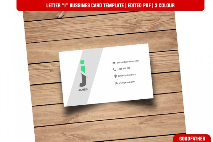 Letter J Creative Bussines Card Template