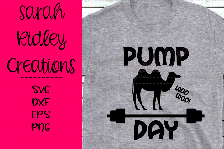 Pump Day WOO WOO, Exercise SVG, Weight Lifting, Camel SVG