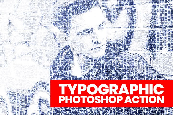 Typographic Photoshop Action