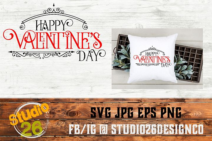 Happy Valentine's Day - SVG PNG EPS example 1