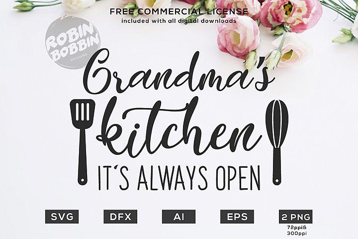 Grandmas Kitchen Is Always Open Design for T-Shirt, Hoodies