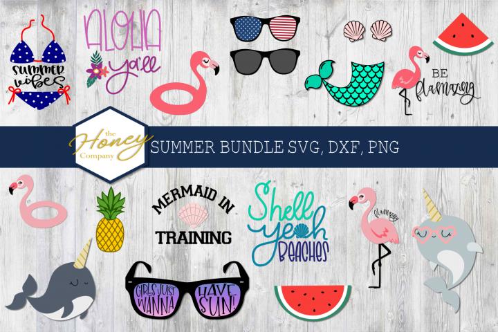 Summer SVG PNG DXF Bundle Pool Float Set Cutting Files