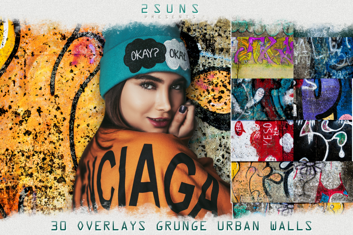 30 Urban grunge walls overlays graffity textures photo vol3