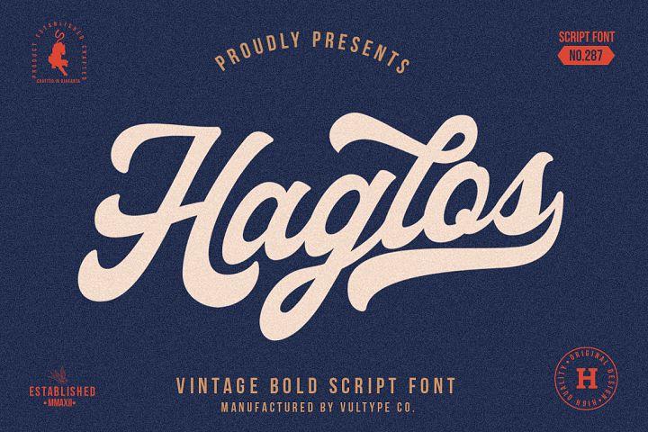 Haglos - Bold Script Font