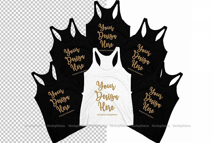 Bachelorette Group Bride Bridesmaid Tank Top Mockup PNG
