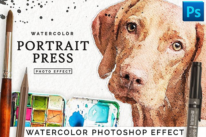 Realistic Watercolor Portrait Effect for Photoshop