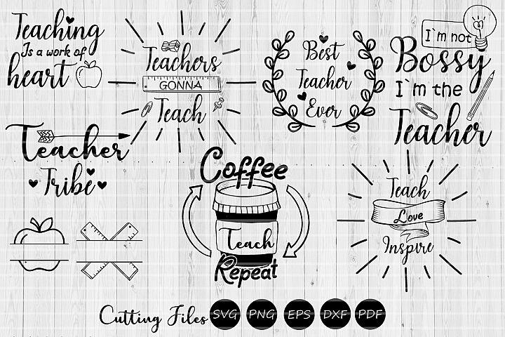 Teacher bundle   SVG Cutting file   Teacher appreciation  