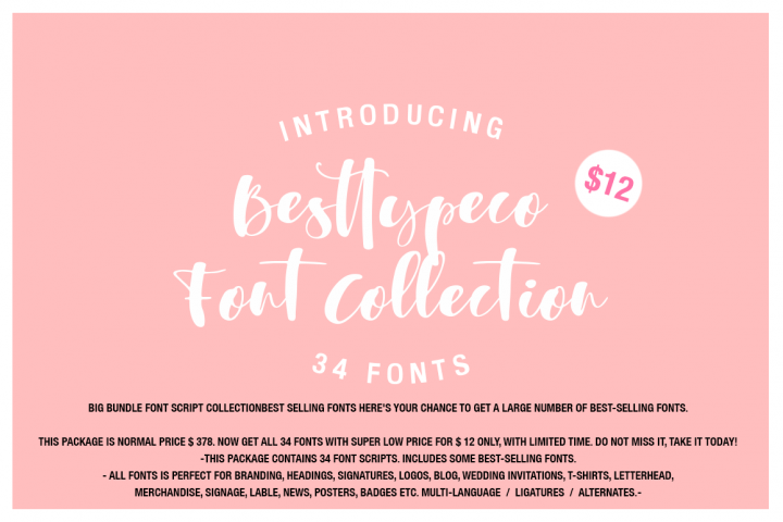 34 IN 1 Font Collection SALE !!!!!!!! limited time